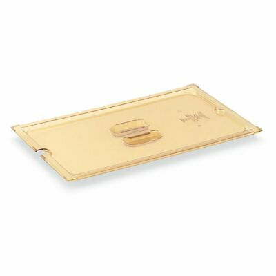 Vollrath 33300 Amber 1/3 Size High Temp Solid Plastic Pan Cover