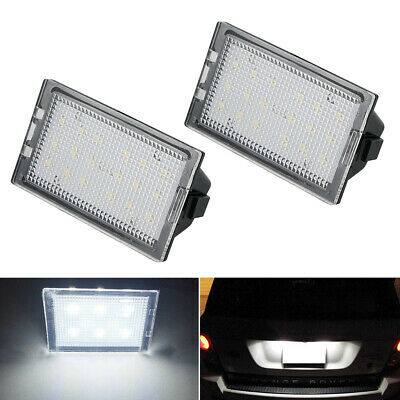 LED License Plate Lamp Fit Land Rover Discovery 3 4 Freelander Range Rover Sport