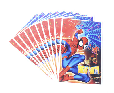 Spiderman Superhero Kids Birthday Party Bags Loot Bag Great Party