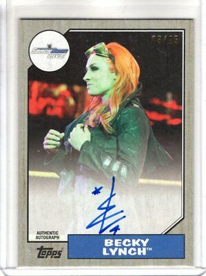 2017 Topps WWE Heritage Auto BECKY LYNCH Silver Parallel 03/25 AUTOGRAPH Rare SP