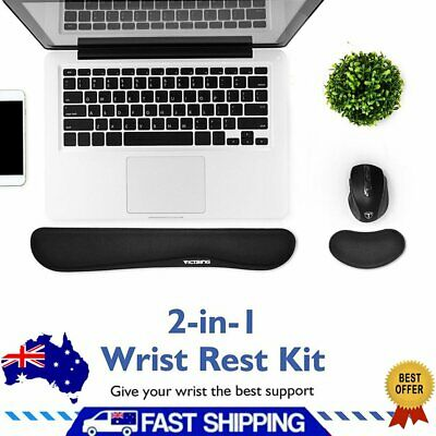 New Memory Foam Set Keyboard and Mouse Wrist Rest Pad Support for Easy Typing AU