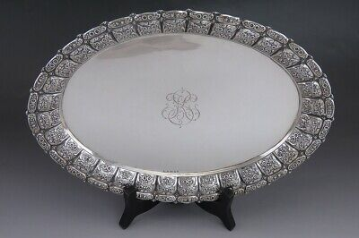 Vintage 1943 Finnish Silver Georgian Style Serving Tray or Platter
