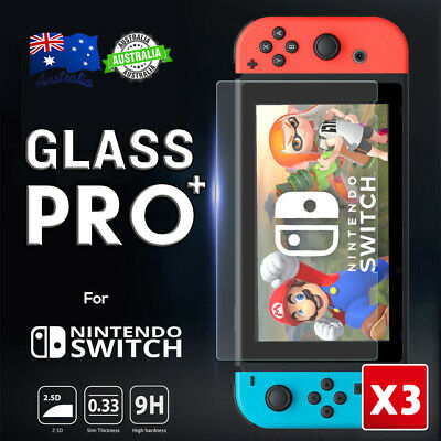 3Pcs Nintendo Switch Screen Protector 9H Full Cover Premium Tempered Glass