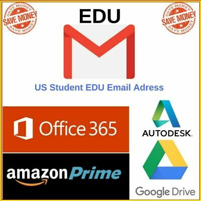 Edu Email ✅Unlimited Google Drive✅6 Months Amazon Prime✅ US Student Mail✅
