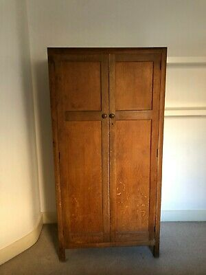 Heal & Son Ltd London Antique Vintage Oak Double Wardrobe
