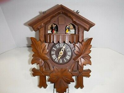 CUCKOO CLOCK ~ MOVEMENT MADE IN SWITZERLAND, ( WORKS! ) needs to be serviced