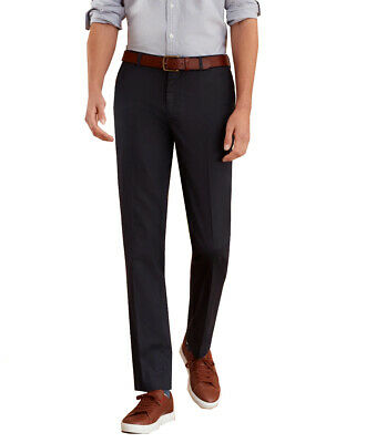 Brooks Brothers Men's Plain Front Stretch Trousers, Navy (33x30) 5200-9