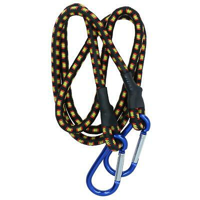 "48"" Bungee Strap with Aluminium Carabiners Hook Tie Down Fastener Holder"