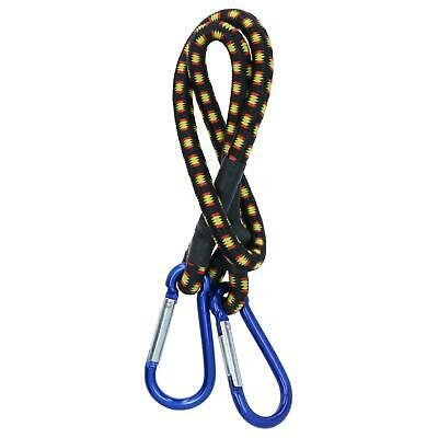 "24"" Bungee Strap with Aluminium Carabiners Hook Tie Down Fastener Holder"