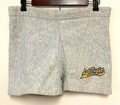 Vintage Mens Large Late Night with David Letterman MVP Shorts Thick Cotton Blend
