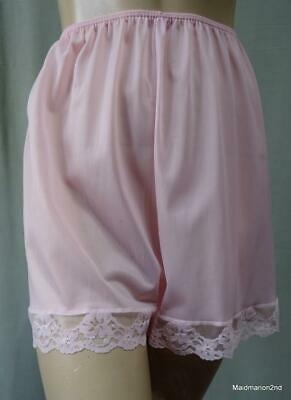St MICHAEL M&S VINTAGE SILKY SOFT PALE PINK NYLON FRENCH KNICKERS PANTIES Med