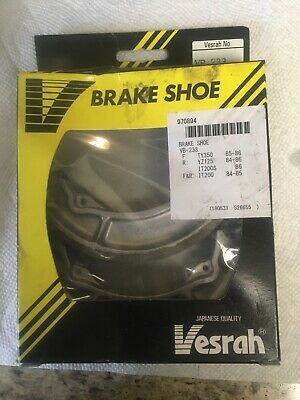 Vesrah brake shoes it200 , ty350, yz125 . plz see picture