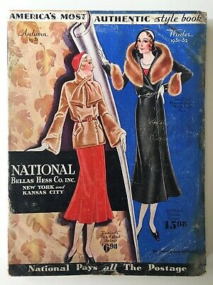 Vintage National Bellas Hess Co Catalog(Autumn 1931) 365 Pages of Vintage Style!