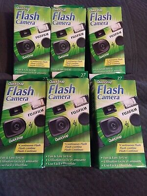 6 Pack Fujifilm Quicksnap Flash 400 Single Use 35mm Film Camera 2021 & 2022 Exp.