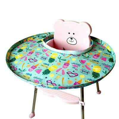 Baby Eating Table Mat Feeding Saucer High Chair Cover Germ Prevents Toy QK
