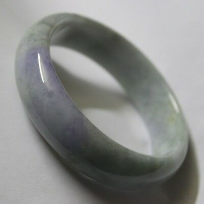 Gemstone Natural JADE (Grade A) RARE Untreated Violet Green Jadeite Bangle 60mm