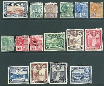 BRITISH GUIANA early mint stamp collection from 1899 onwards