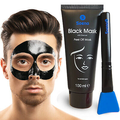 DAS ORIGINAL - Black Mask for MEN  | XXL Tube 100 ml | Mitesser Maske Blackheads