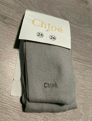 RRP £22 * CHLOE * Girls Designer Tights * Age 2-4Y * Grey