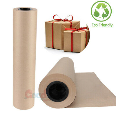 "18"" x 2100"" Brown Kraft Paper Roll for Shipping Wrapping Packaging Art Craft"