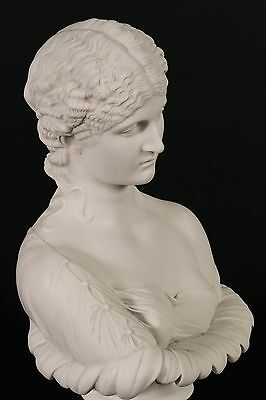 Marble Bust of Clytie, Classical Sculpture. Ornament, Gift, Art.