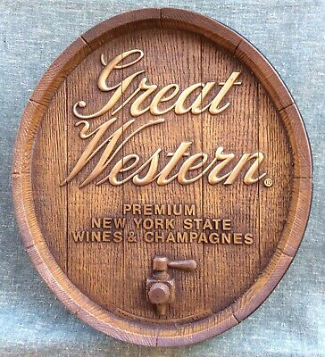 GREAT WESTERN WINE SIGN Hammondsport NY PLEASANT VALLEY Champagne Advertising