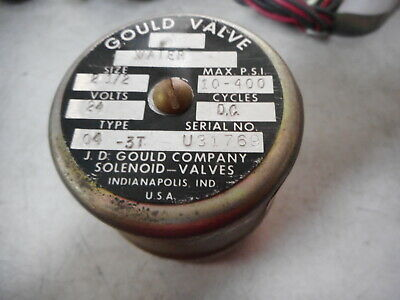"GOULD VALVES -- Coil assembly -- Size 2-1/2"" 24DC -- Q4-3T"