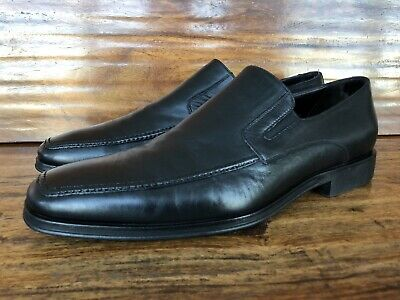 Mens Monte Rosso Dress Loafers Black Soft Leather Size 11 M