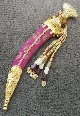 Mughal style Islamic dagger wootz billet beautiful Gold koftgari