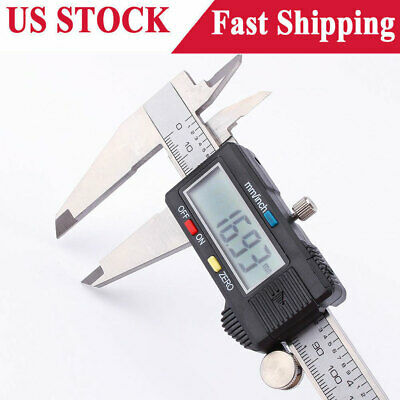 Digital Electronic Gauge Stainless Steel Vernier 0- 200mm Caliper Micrometer New