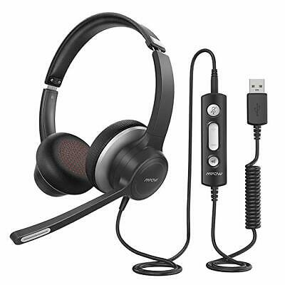 Mpow HC6 USB Headset On-Ear Headphone Noise Canceling with Microphone 3.5mm Jac