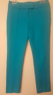Mossimo womens size 2 stretch extensible pants  • dark turquoise •