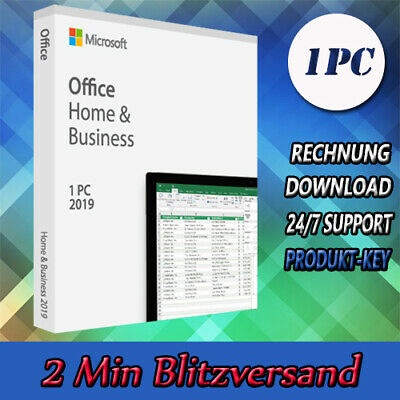 Office 2016-2019 PP - Home&Student - Home&Business (32&64 Bits) 1-5PC per Email
