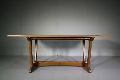 Large 1960's Alan Acornman Grainger Oak Dining Table
