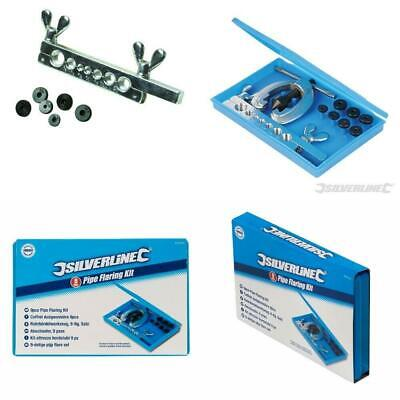 """New Silverline 9Pce PIPE FLARING TOOL KIT 3/16"""" 1/4"""" 5/16"""" 3/8"""" 7/16"""" 1/2"""" 5/8"""""""