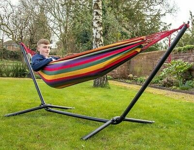 Hammock Outdoor Garden Patio Lounge Camping Bed Heavy Duty Stand Frame Swinging