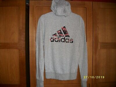 Girls ADIDAS Grey Hoody. Size 13-14 Years. Adidas print on the back. VGC.