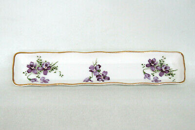 Hammersley Victorian Violets England Bone China Pin Tray Trinket Dish 2287B