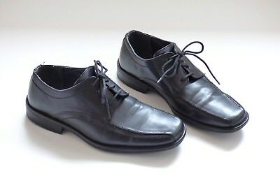 Men's Vintage CRUIZER Lace Up Black 100% Leather Shoes Size UK7 EU41