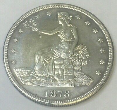 1878 S $1 Trade Dollar Cleaned Nice Detail