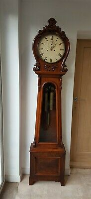 Flame Mahogany Scottish Regulator Grandfather longcase Clock