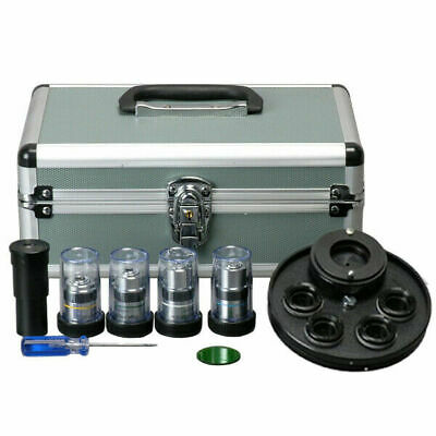 AmScope PCT Brightfield & Phase Contrast Kit for Microscopes with Case