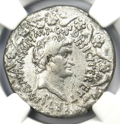 Roman Marc Antony and Octavia AR Cistophorus Coin 39 BC. Certified NGC Choice VF