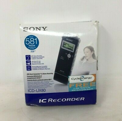 NEW Sony ICD-UX80 Digital Voice Recorder 2GB MP3 Player Dictaphone IC Recorder