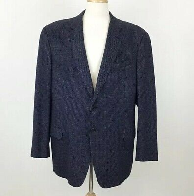 Armani Collezioni XL Jacket Blue Mens Blazer Suit Coat Executive Made In Italy