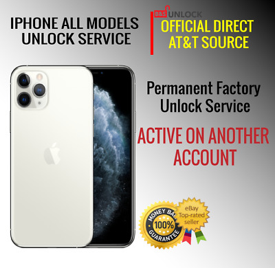 AT&T USA PREMIUN ULOCK SERVICE FOR IPHONE X XS 8 7 6 Active on Another Account