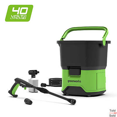 Greenworks DC Portable Cordless Pressure Washer 40 V Green (No Battery Charger)