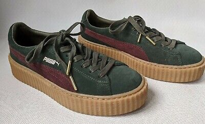 FENTY X PUMA Suede Creepers By Rihanna Green Bordeaux Size
