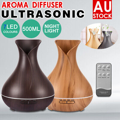 Aroma Aromatherapy Diffuser LED Oil Essential Ultrasonic Air Humidifier Purifier