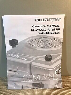 Kohler Command 11-16 Hp Vertical Crankshaft   Engine Owner's Manual